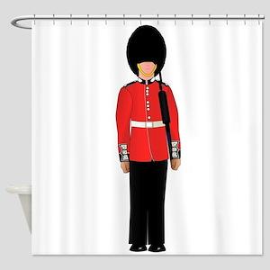 British Soldier On Guard Duty Shower Curtain