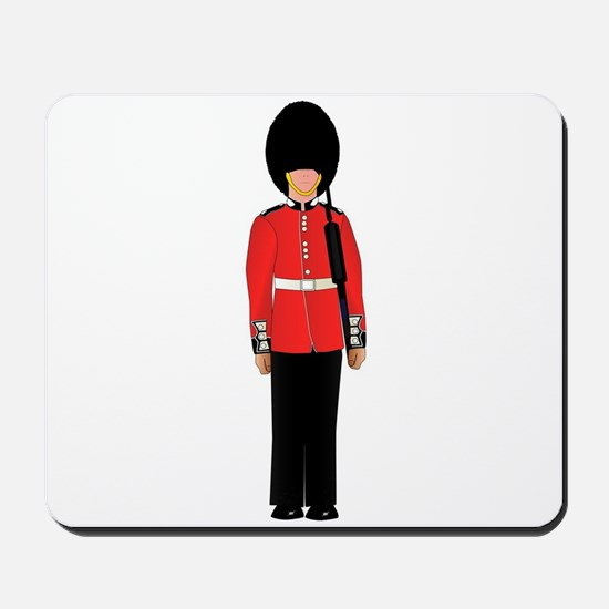British Soldier On Guard Duty Mousepad