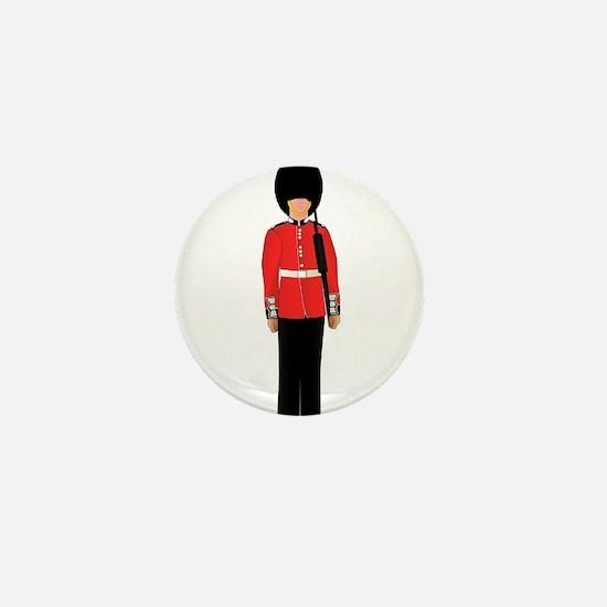 British Soldier On Guard Duty Mini Button