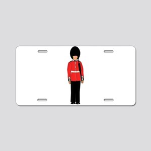 British Soldier On Guard Du Aluminum License Plate