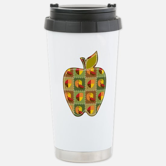 Autumn Quilt Stainless Steel Travel Mug