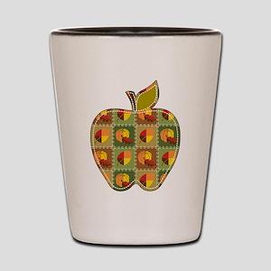 Autumn Quilt Shot Glass