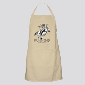 running with horses Apron