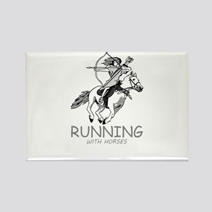 running with horses Magnets
