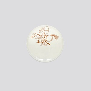 running with horses Mini Button