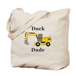 Duck Dude Tote Bag
