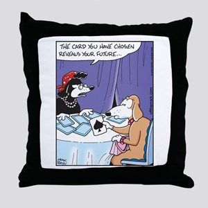 Dog Fortune Teller Throw Pillow