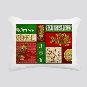 Vintage Holiday collage Rectangular Canvas Pillow