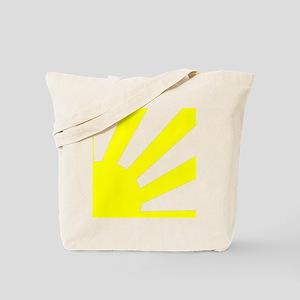 Yellow Sunburst Tote Bag