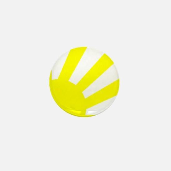 Yellow Sunburst Mini Button