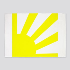 Yellow Sunburst 5'x7'Area Rug