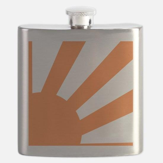 Orange Sunburst Flask
