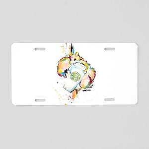 Star Nut Aluminum License Plate