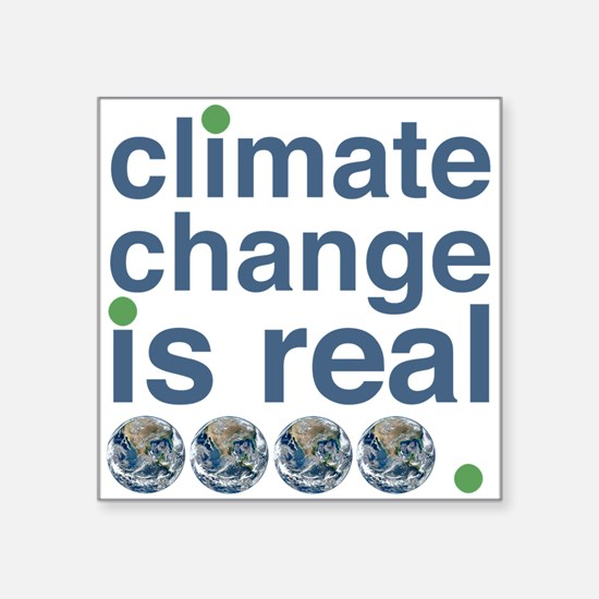 "Climate Change Square Sticker 3"" X 3"""