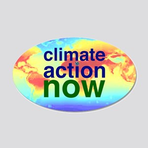 Climate Action 20x12 Oval Wall Decal