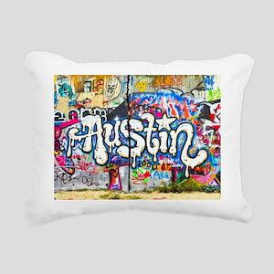 Austin Graffiti Rectangular Canvas Pillow