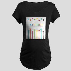 Rainbow Optimist Maternity T-Shirt