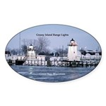 Grassy Island Range Lights Sticker