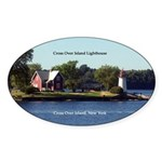 Cross Over Island Lighthouse Sticker