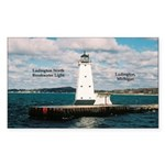 Ludington North Breakwater Light Sticker
