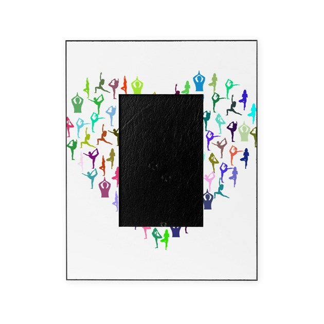 Rainbow Yogi Heart Picture Frame By Admin_CP132385173