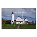 Point Iroquois Lighthouse Sticker