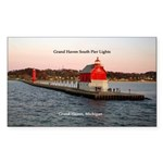 Grand Haven South Pier Lights Sticker