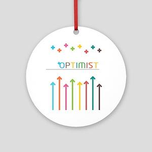 Rainbow Optimist Round Ornament