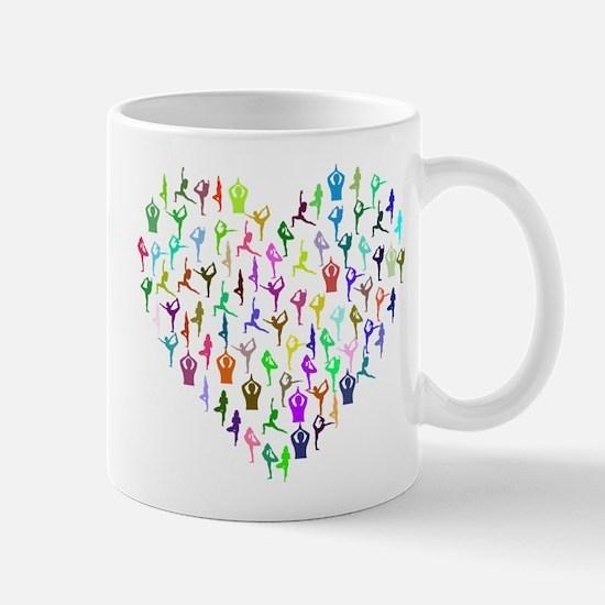Rainbow Yogi Heart Mugs