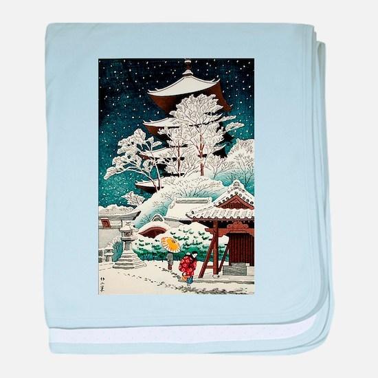 Cool Japanese Oriental Snow Winter baby blanket