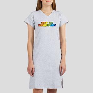 Not My President Rainbow Women's Nightshirt