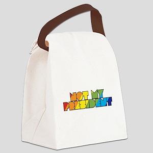 Not My President Rainbow Canvas Lunch Bag