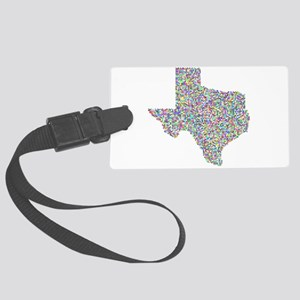 Prismatic Rainbow Texas State Large Luggage Tag