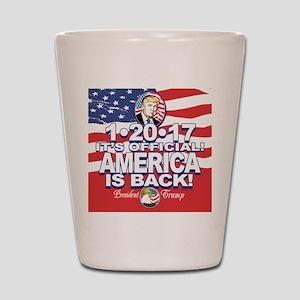 America is Back Trump Inauguration Shot Glass