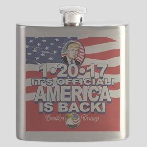 America is Back Trump Inauguration Flask
