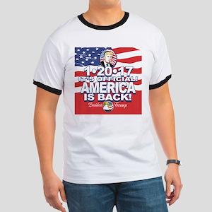 America is Back Trump Inauguration Ringer T