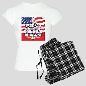 America is Back Trump Inaug Women's Light Pajamas