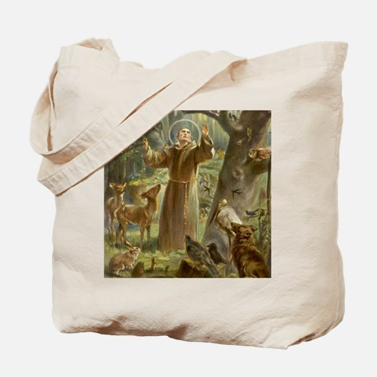 Unique Saint francis Tote Bag