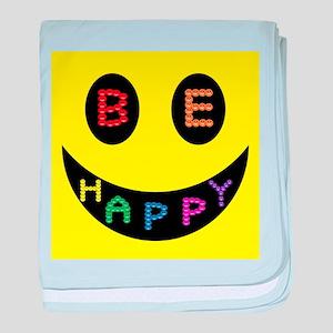 Be Happy Smile baby blanket