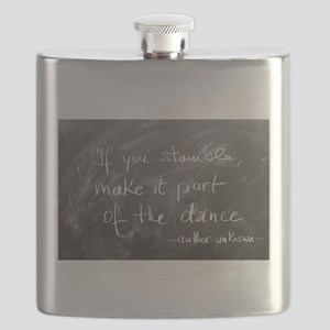 Stumble Made Part of Dance Flask