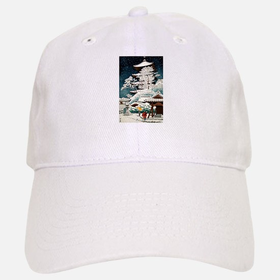 Cool Japanese Oriental Snow Winter Baseball Baseball Cap