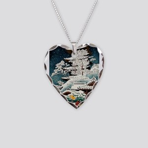 Cool Japanese Oriental Snow W Necklace Heart Charm