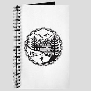 Swiss Chalet Alpine Hiker Decoupage Journal