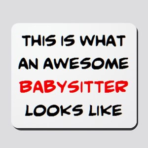 awesome babysitter Mousepad