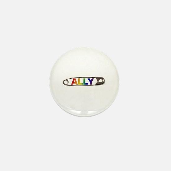 Safety Pin Ally Lgbtq Mini Button