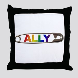 Safety Pin Ally LGBTQ Throw Pillow