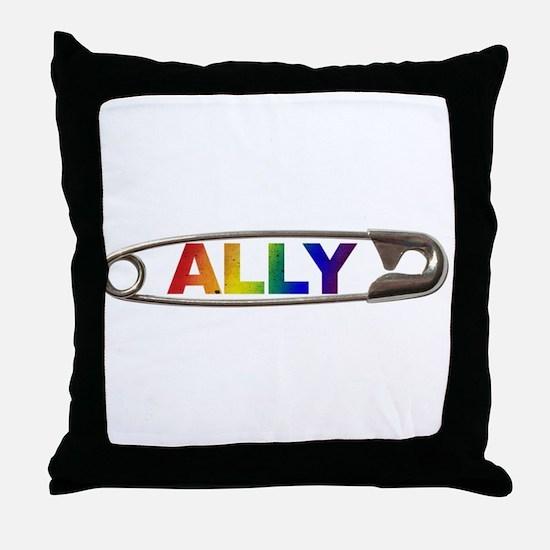 Safety Pin Ally LGBTQ Throw Pillow