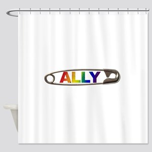 Safety Pin Ally LGBTQ Shower Curtain