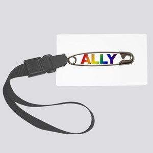 Safety Pin Ally Lgbtq Large Luggage Tag