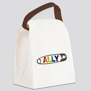 Safety Pin Ally LGBTQ Canvas Lunch Bag